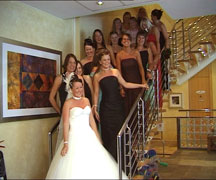 anthony and tracey wedding photos og girls at Hilton birmingham