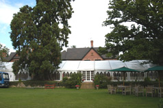 view rear lawns -  wedding photographers nailcote hall