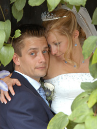 bride and groom -  wedding video nailcote hall