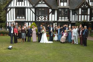 group shot- wedding photographers nailcote hall