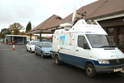tv satelite vans -l NATIONAL MOTORCYCLE MUSEUM - nec birmingham - conference photography by john stephens photography and video - conference photography Birmingham 2006
