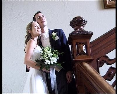 Welcombe Hotel Stratford upon Avon - emma-jo and damian inside stairs,wedding video welcombe
