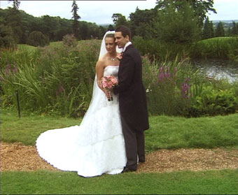 Welcombe Hotel Stratford upon Avon - sharron and mathew by water,wedding video welcombe hotel