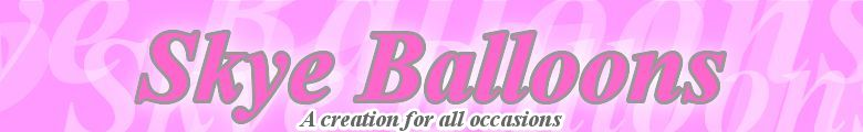 skye balloons, wedding balloons, party balloons,celebration balloons